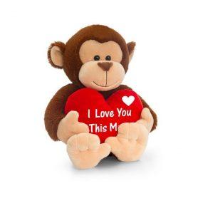 Apekatt bamse fra keel toys med hjerte