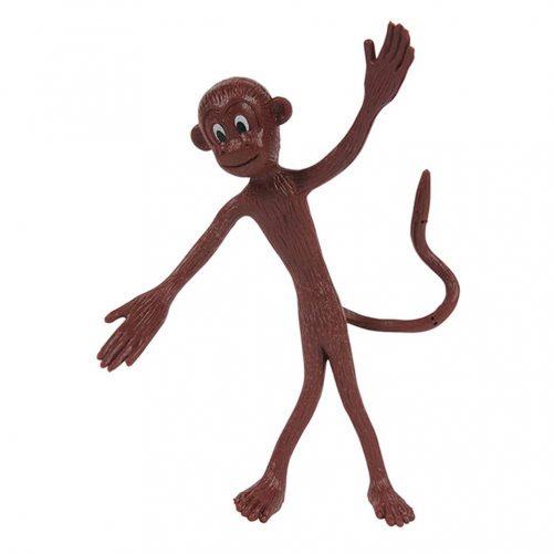 Apekatt som kan bøyes med 360 graders hale som danser brun