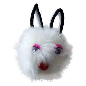 Fluffy kanin ball med nøkkelring