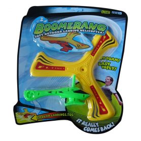 Boomerang med helikopter gul og grønn