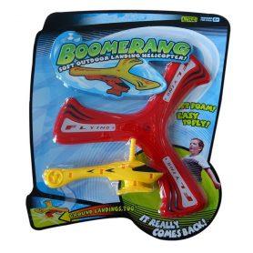 Boomerang med helikopter gul og rød