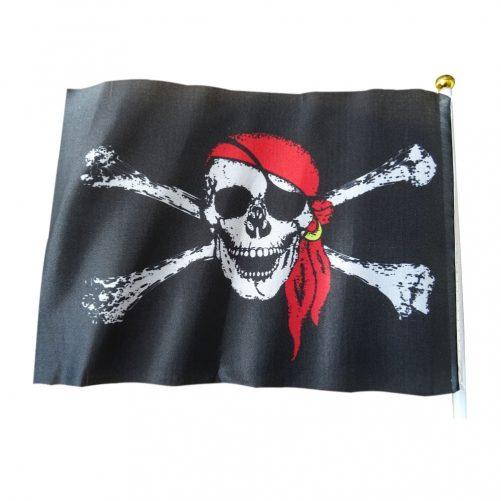 Piratflagg med sugepropp