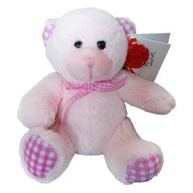 baby keels bamse fra keel toys 15cm rosa