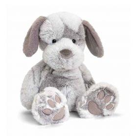 love-to-hug-hund-keel-toys-plysj-18cm-grå