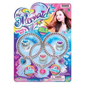 My Mermaid juvelsett - Med ringer/armbånd