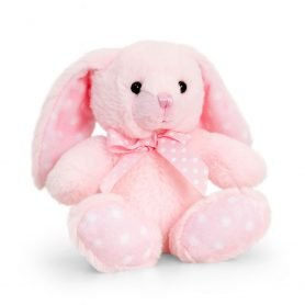 Prikkete Kanin - Keel Toys Plysj 15cm (rosa)