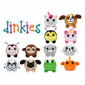 Dinkies - Søte plysj figurer - 12ass, 7cm